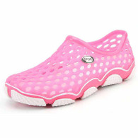Pink color hollow out slip on shoe sandal 01
