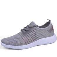 Grey stripe detail flyknit shoe sneaker 01