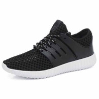 Black casual hollow out shoe sneaker 01
