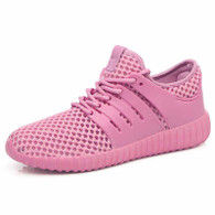 Pink casual hollow out shoe sneaker 01