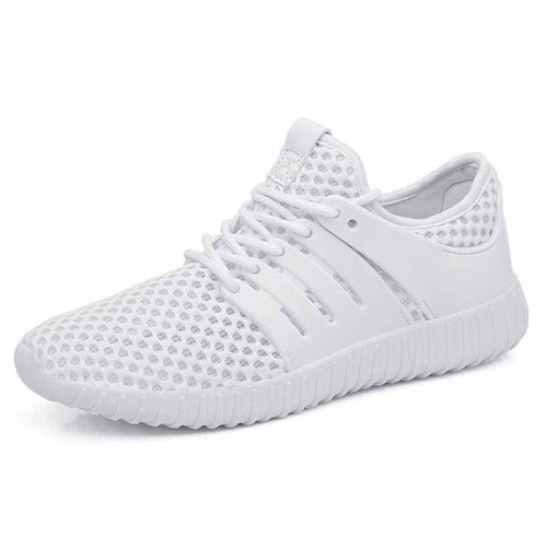 white casual hollow out shoe sneaker  womens sneakers