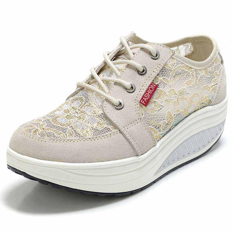 Beige floral lace rocker bottom shoe sneaker 01 2c7d5456a70b