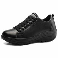 Black plain color rocker bottom shoe sneaker 01