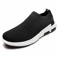 Black white check flyknit slip on shoe sneaker 01