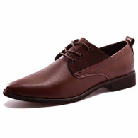 Brown urban derby lace up dress shoe 01