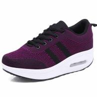 Purple plain flyknit rocker bottom shoe sneaker 01