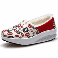 Red sexy lip slip on winter rocker bottom shoe sneaker 01