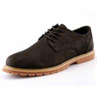 Black retro leather derby dress shoe 01
