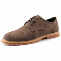 Khaki retro leather derby dress shoe 01