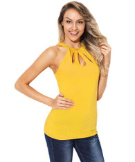 Yellow cut out t-shirt racerback 01