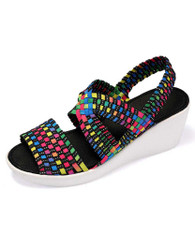 Rainbow cross check slip on shoe wedge sandal 01