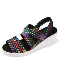 Rainbow cross check slip on shoe wedge sandal 01
