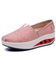 Red stripe slip on rocker bottom shoe sneaker 1881 01
