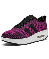 Purple stripe flyknit winter rocker bottom shoe sneaker 01