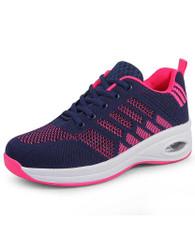 Navy pink flyknit stripe block texture shoe sneaker 01