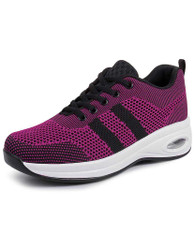 Purple flyknit stripe block texture shoe sneaker 01