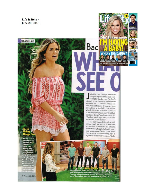 As Seen on The Bachelorette Jojo Fletcher and in ...