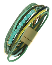 Blues Layered Magnetic Clasp Bracelet