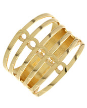 Lines Clasp Bracelet: Gold Or Silver