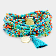 Colorful Blues Stretch Bracelet Set