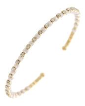 Crystals + Pearls Cuff Bracelet