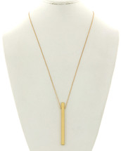 Long Golden Bar Necklace