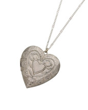 Heart Locket Necklace: Gold Or Silver