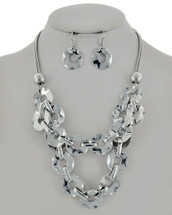 Shiny Links Statement Necklace: Gold Or Silver