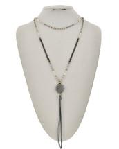Shades Of Gray Semi Precious Necklace