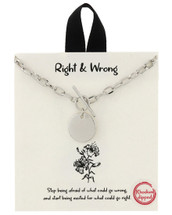 Right & Wrong Necklace: Gold Or Silver