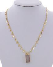 Druzy Petal Chain Necklace