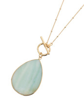 Chalcedony Toggle Necklace