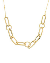 Gold Dipped Linked Together Necklace: Gold Or Silver