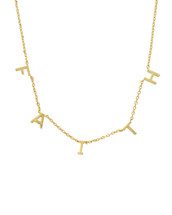 Gold Dipped Have Faith Necklace: Gold OR Silver
