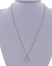 Quatrefoil Pendant Necklace: Gold Or Silver