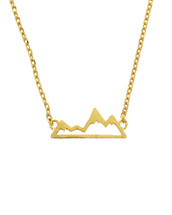 Gold Dipped Mountain Necklace
