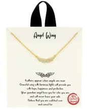 Gold Dipped Angel Wings Necklace