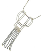 Long Deco Necklace: Gold Or Silver