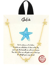 Gold Dipped Starfish Necklace: Gold Or Silver