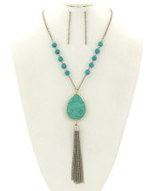 Turquoise For Days Tassel Necklace