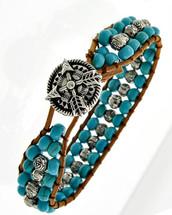 Burnished Turquoise Bracelet