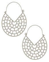 Filigree Cage Hoops: Gold Or Silver