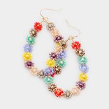 Floral Burst Hoop Earrings