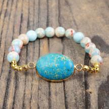Jasper + Turquoise Sediment Bracelet