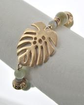Leaf Beaded Bracelet