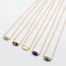 Dainty Semi-Precious Stone Necklace