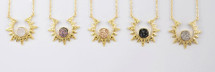 Druzy Sunburst Necklace