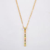Rainbow Vertical Bar Necklace