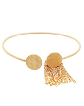 Disc Tassel Cuff: Gold Or Silver