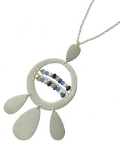 Long Daisy Necklace: Gold Or Silver